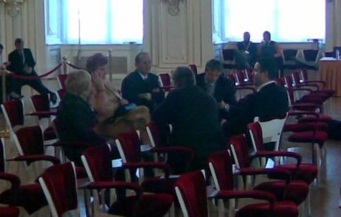 Senátorka s bodyguardy v sobotu ve Španělském sále
