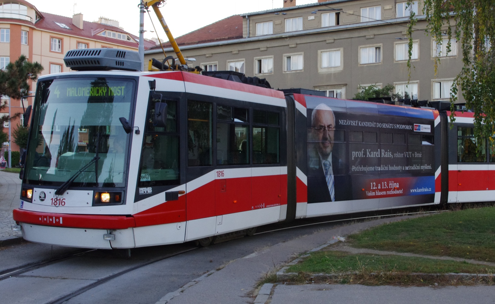 Rais na městem Brnem dotované tramvaji