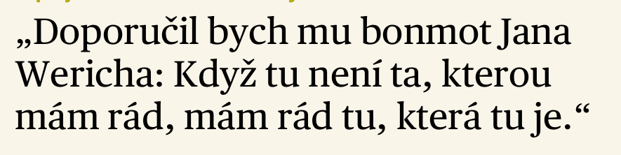 Miloš Zeman v MFDnes 22. 3. 2018