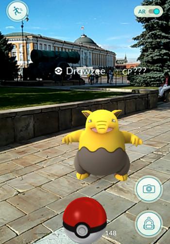Pokémon Drowzee hlídá Kreml