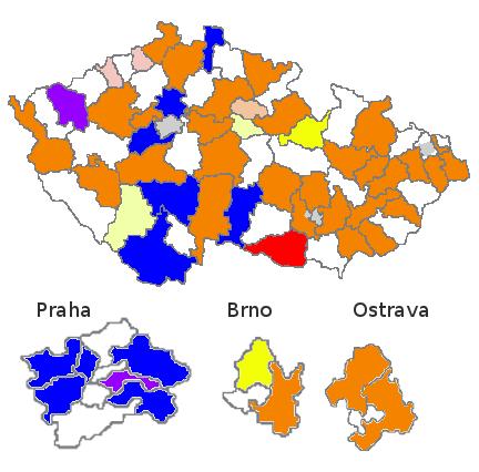 Mapa Senát před volbami