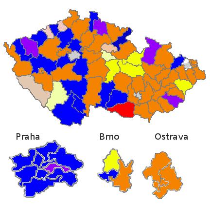 Mapa Senát do voleb