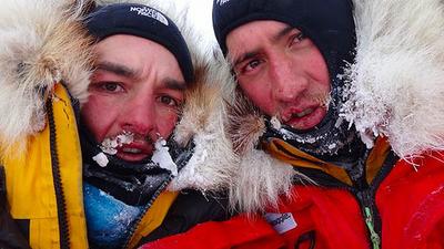 Dva kamarádi v ledu.