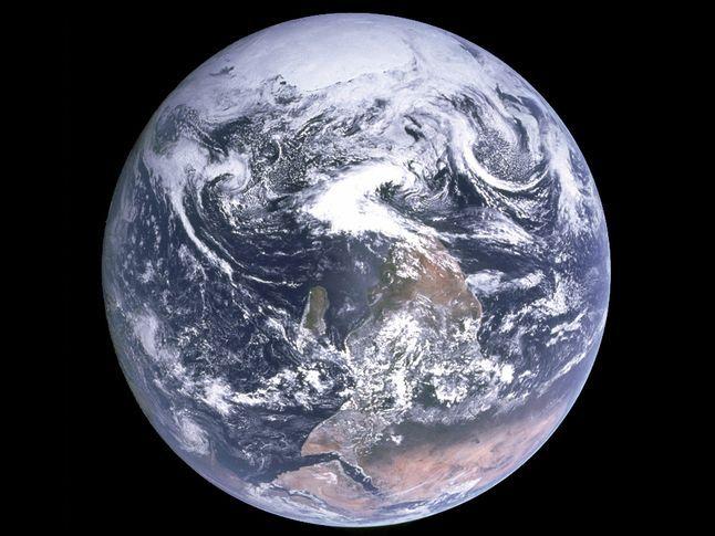 Fotografie Země zvaná Modrá skleněnka