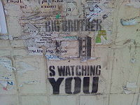 Big Brother is Watching You! - zdroj Wikipedia, Creative Commons