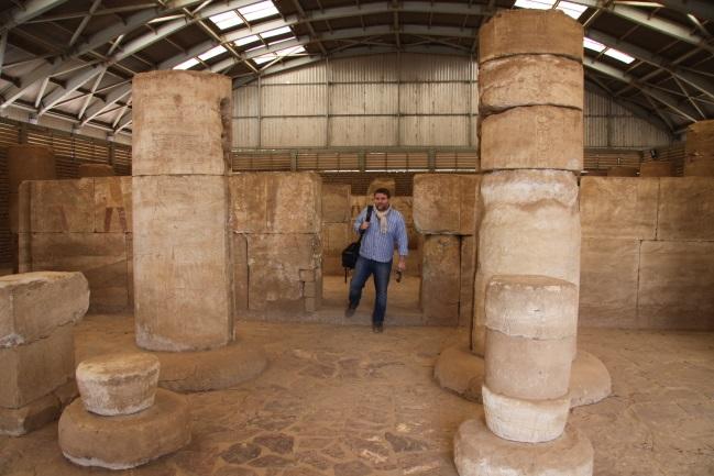 Před odjezdem v Chartúmu v muzeu v přeneseném chrámu Buhen, postaveném za vlády královny Hatšepsut.