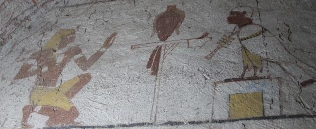 Kurru – Nástěnné malby v hrobce krále Tanwetamani.