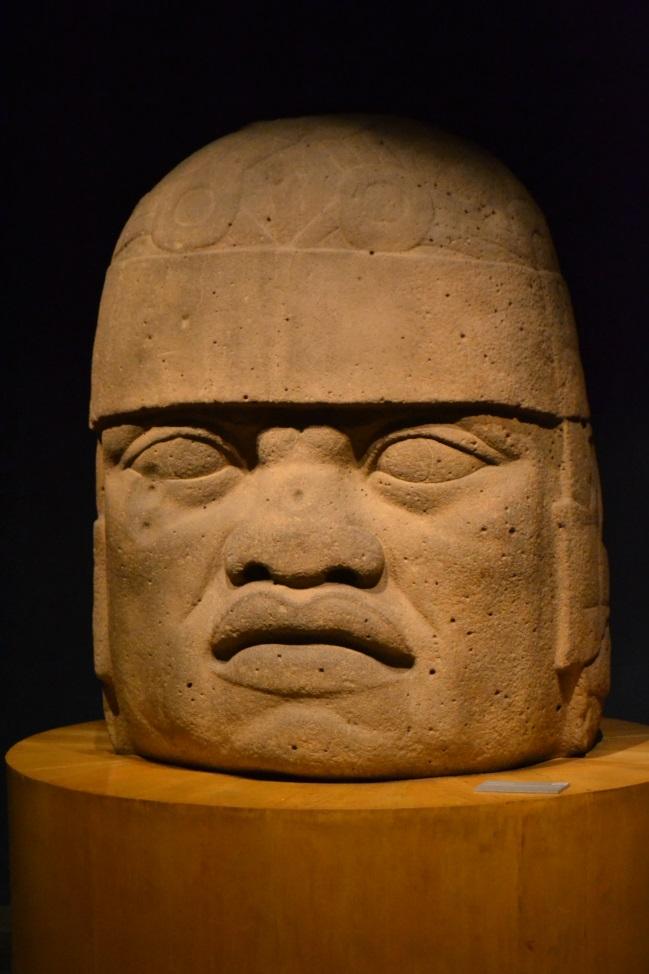 Olmécká hlava z atlantského pobřeží Mexika (Xalapa)