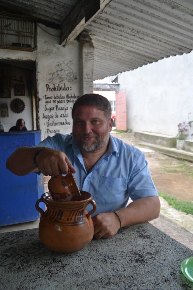 Ochutnávám pulque