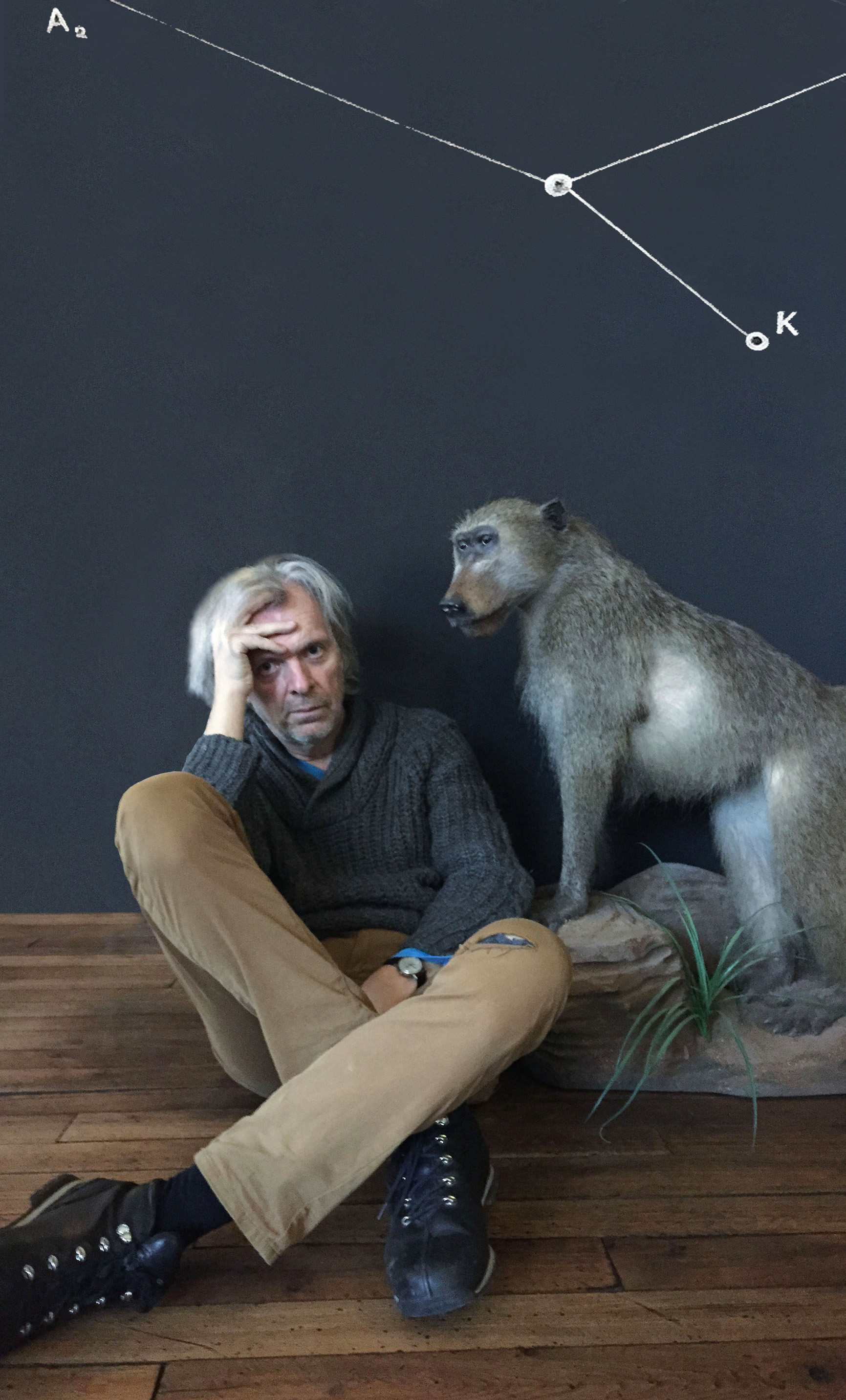 J.David and Baboon, December 2014...