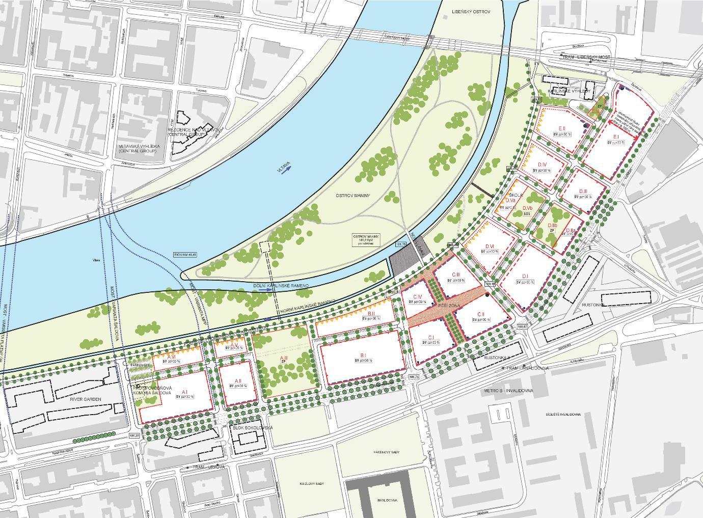 Studie s regulačními prvky Rohan City, autor Pavel Hnilička