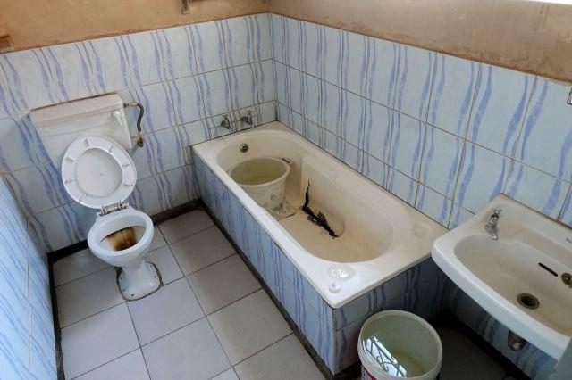 [Zimba]Koupelna v Trekkers Guesthouse