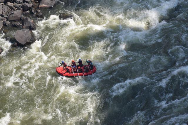 [Victoria Falls]Raftování v Boiling Pot