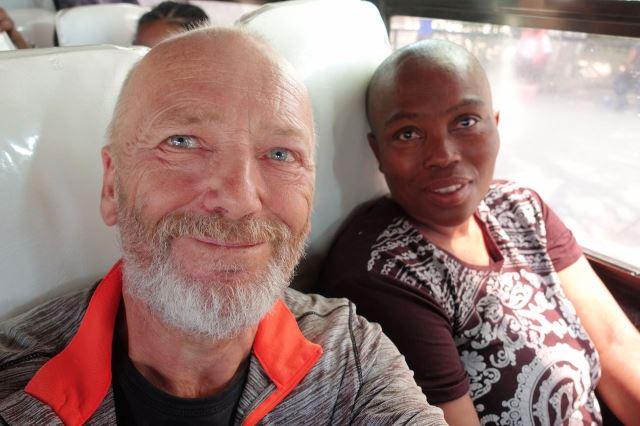 [Gweta]Selfíčko se spolucestující z mikrobusu