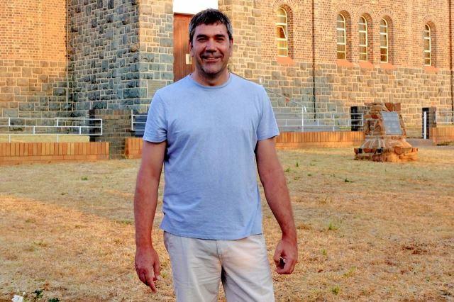 [Swartruggens]Ned Getref Kerk - můj průvodce - učitel afrikánštiny a bratr reverenda kostela
