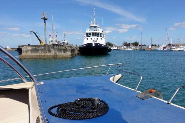 [Richards Bay]Naše loď přiíždí do přístavu