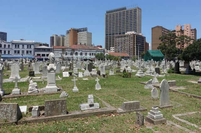 [Durban]West St Cemetery - křesťanský hřbitov