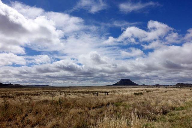 [Poblíž Colesberg]Výrazná hora nad Colesbergem