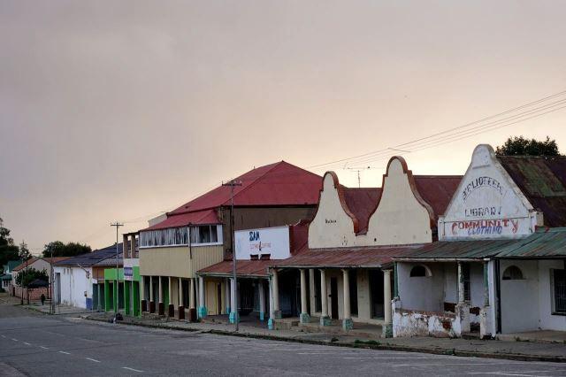[Winburg] Náměstí s historickými domy