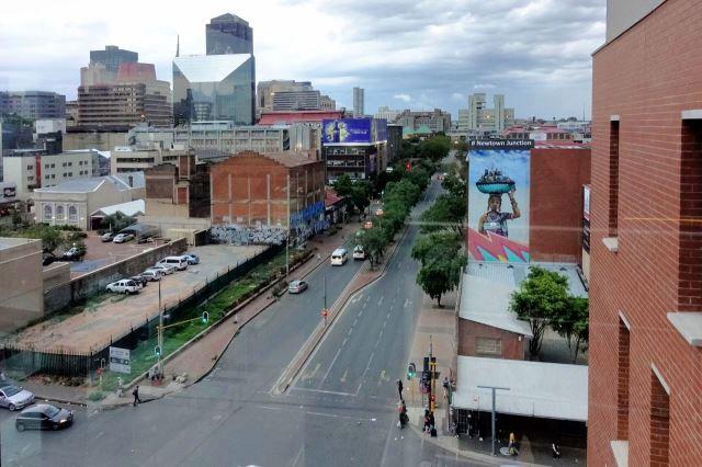 [Johannesburg] Výhled z hotelové chodby na City Centre