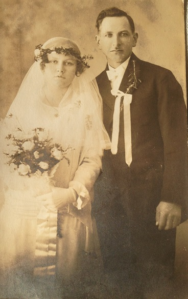 svatební fotografie manželů Plichtových