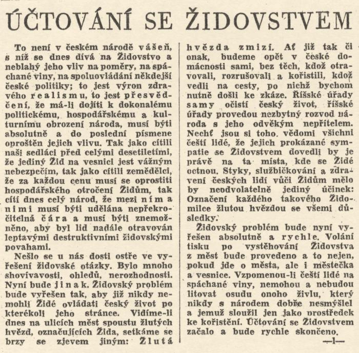 článek 3 - protektorátní noviny