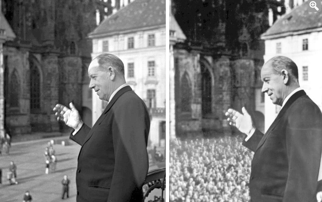 Antonín Zápotocký - alias Tonda Lopata - ...a davy ho vítaly