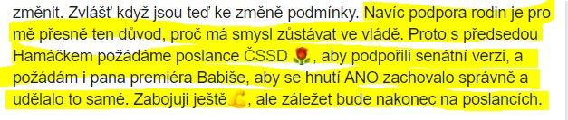 Paní ministryně Maláčová do poslední chvíle - 15.12.2019 - vzbuzovala naděje. Plané.