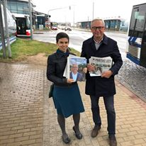 S Davidem při kontaktní kampani na metru