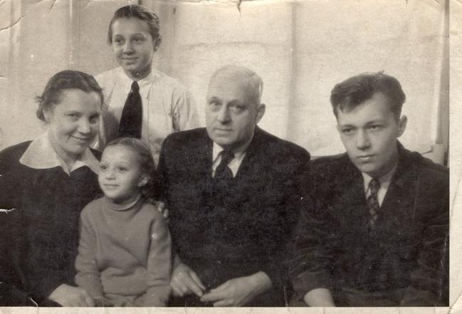 Rodina Ruperta Rychnovského v polovině 50.let.