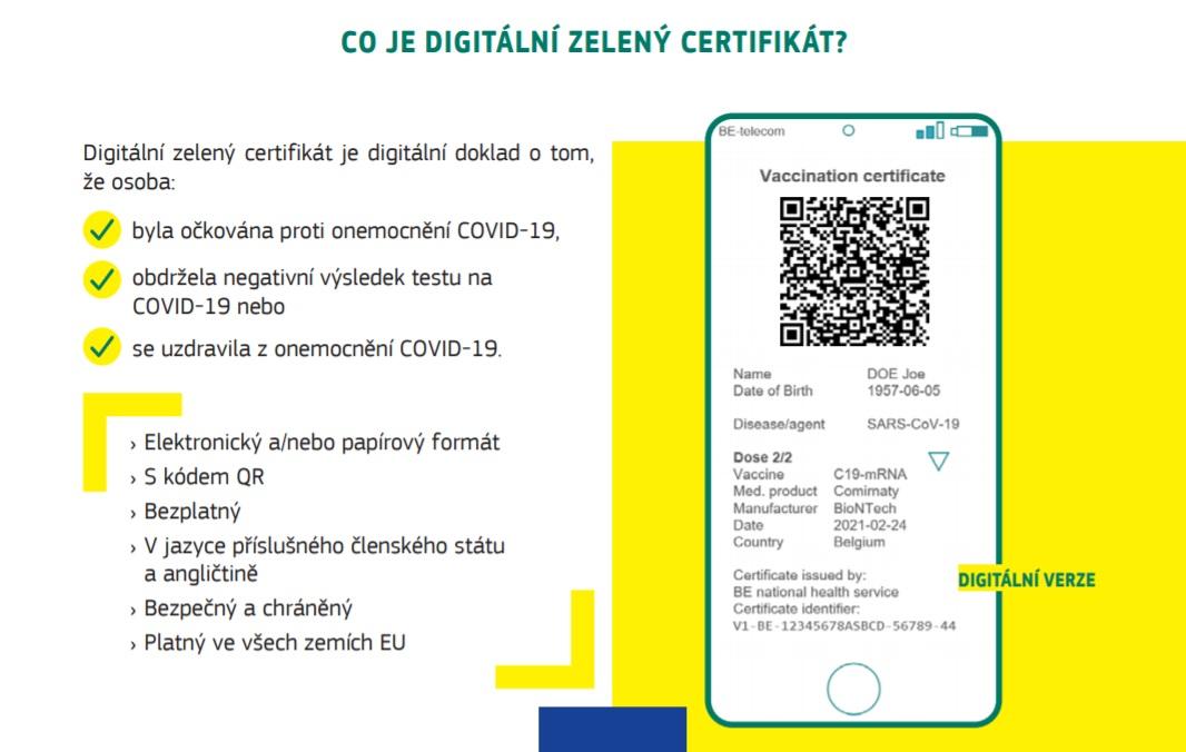 Co je Digitální zelený certifikát, který navrhla Evropská komise?